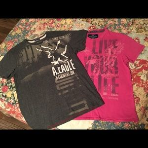 American Eagle bundle of ss shirts size Med